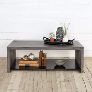 Hugo Concrete Coffee Table - Everett Collection - Parker Gwen