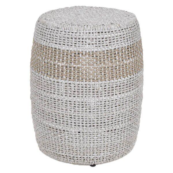 Loom Accent Table (Taupe & White Flat Rope) | Side Table | parker-gwen