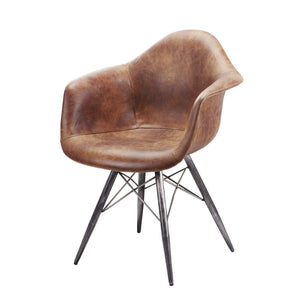 Flynn Leather Club Chair (Light Brown) - Parker Gwen