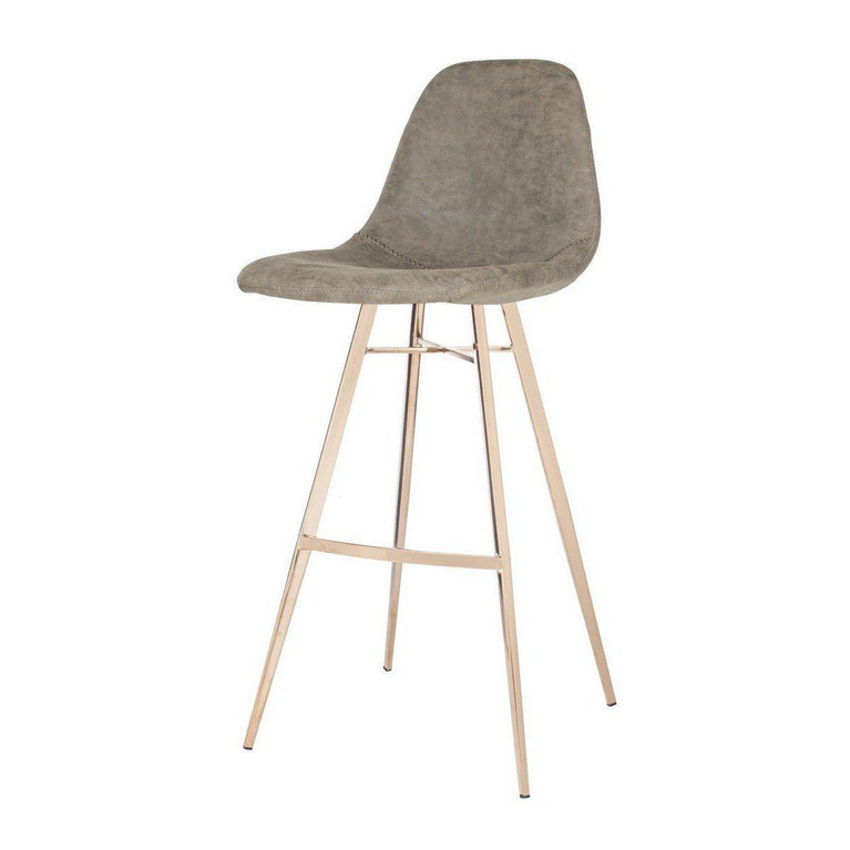 Mathison Bar Stool (Taupe) | Stool | parker-gwen