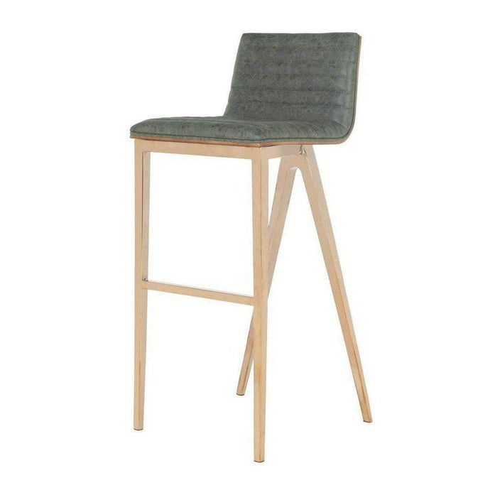 McKay Retro Copper Barstool (Ash Green)