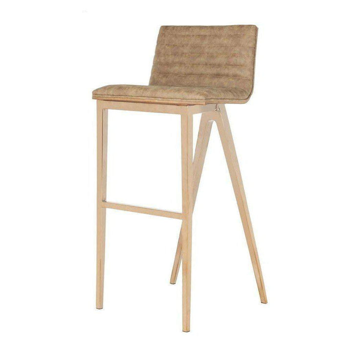 McKay Retro Copper Barstool (Brown)