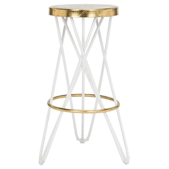 Lorna Gold Leaf Counter & Bar Stool (White) - Parker Gwen