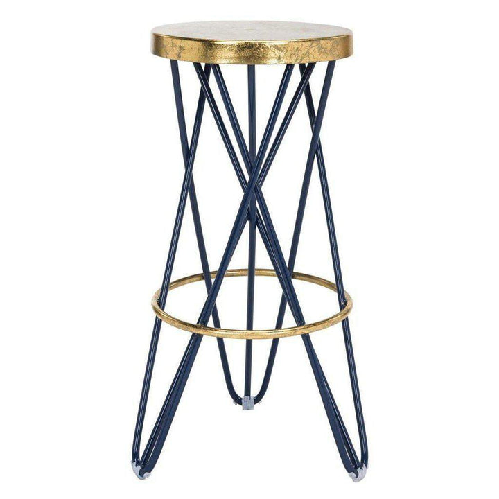 Lorna Gold Leaf Counter & Bar Stool (Navy) - Parker Gwen
