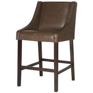 Dylan Faux Leather Bar Stool (Brown) - Parker Gwen