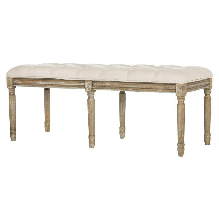 "Rocha 19"" H French Brasserie Traditional Rustic Wood Bench - Parker Gwen"