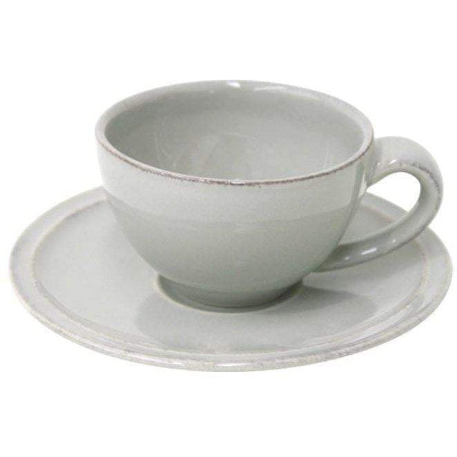 Friso Dining Collection Coffee Cup & Saucer (Set of 6): Grey - Parker Gwen