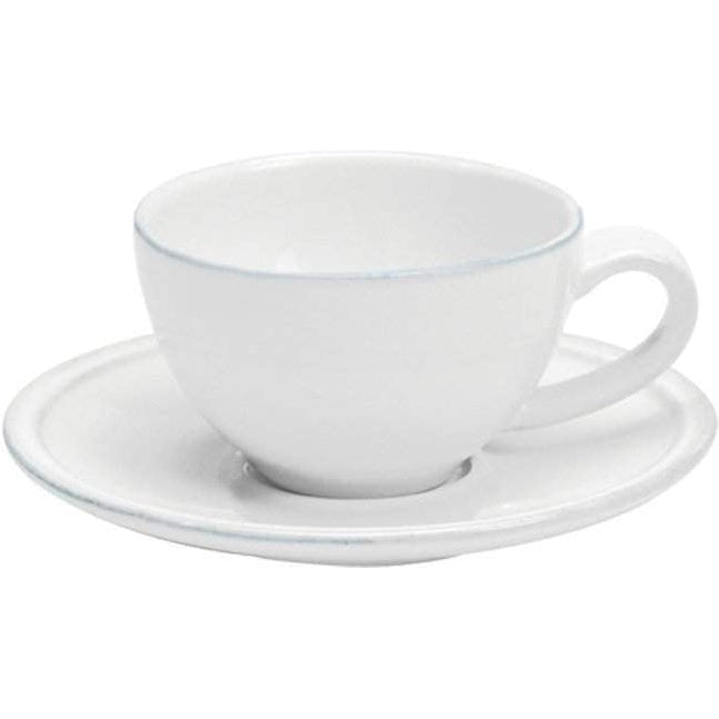Friso Dining Collection Coffee Cup & Saucer (Set of 6): White-Coffee-Parker Gwen