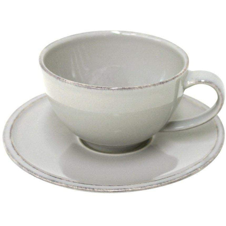 Friso Dining Collection Tea Cup & Saucer (Set of 6): Grey - Parker Gwen