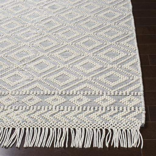 Farmhouse Tassels Diamond Woven Rug: Multiple Sizes & Runner (Grey) - Parker Gwen