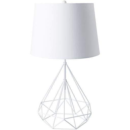 Fuller Metal and Iron Table Lamp: White - Parker Gwen