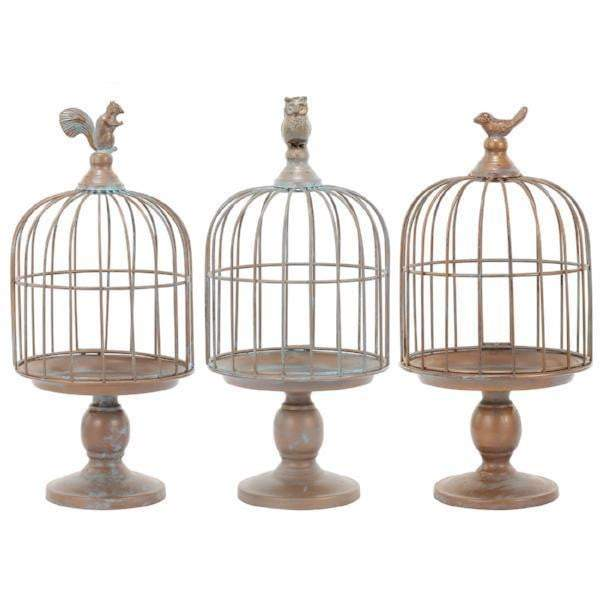 Garden Animal Decorative Cloche: Set of 3-Tabletop-Parker Gwen
