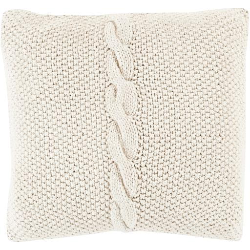 "SURYA GENEVIEVE THROW PILLOW: 18"", 20"" or 22"" (Ivory) 