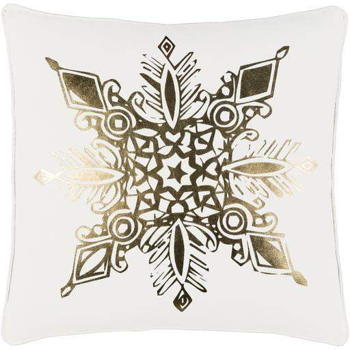 Gold Snowflake Pillow: Holiday Decor Collection-Seasonal Pillow-Parker Gwen