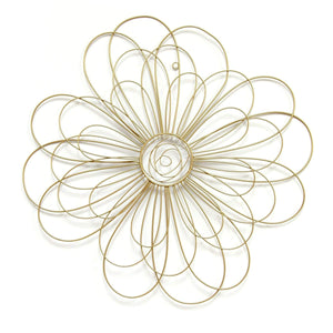 Gold Wire Flower Wall Décor-Wall Accent-Parker Gwen