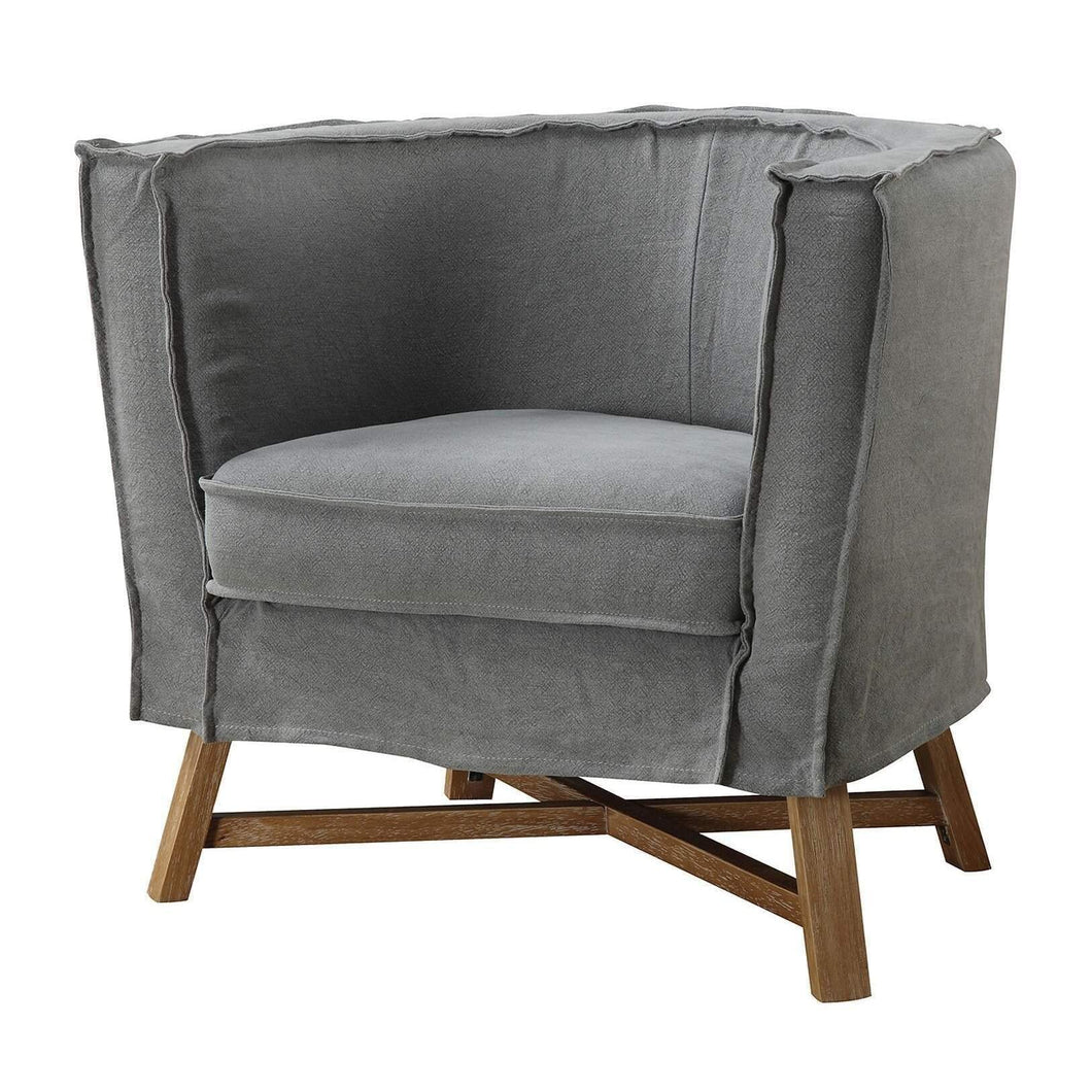 Grand Club Chair (Light Grey) - Parker Gwen