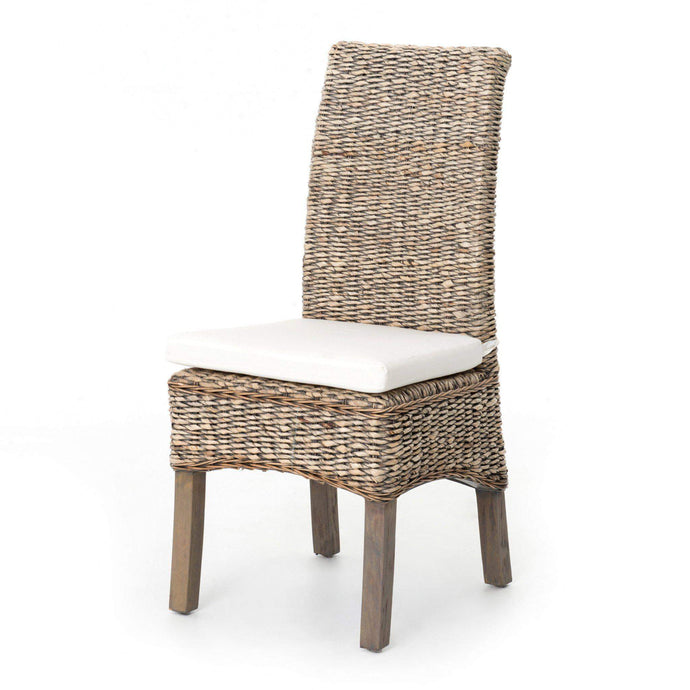Grass Roots Collection Banana Leaf Chair: Grey Wash - Parker Gwen