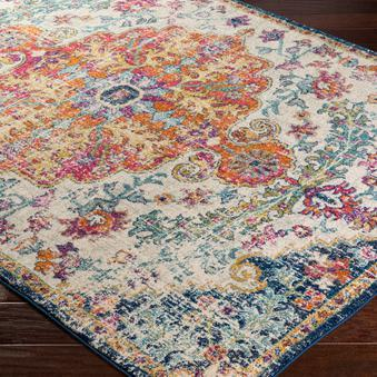 Updated Turkish Rug Collection - Multiple Sizes, Shapes & Runners (Multi)-Indoor-Parker Gwen