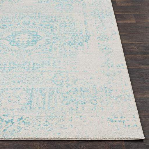 Harput Rug Collection - Multiple Sizes & Runners (Teal)-Indoor-Parker Gwen