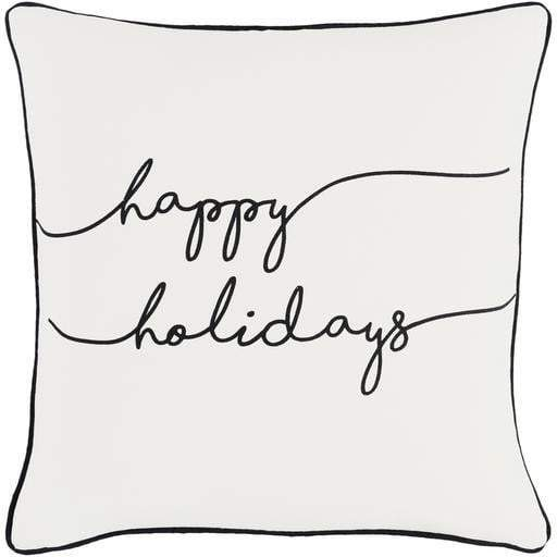 "Happy Holidays 18"" Throw Pillow (White) - Parker Gwen"