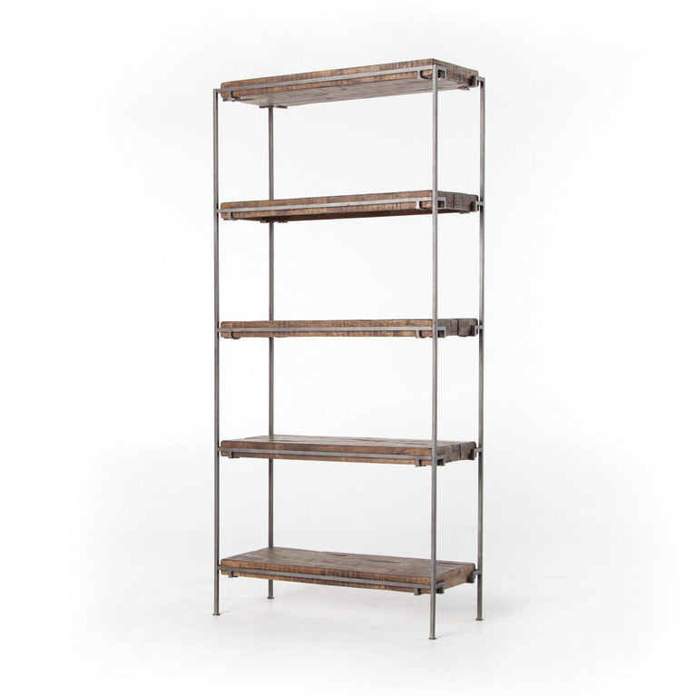 "Simien 83"" Bookshelf (Gunmetal) - Harmon Collection - Parker Gwen"