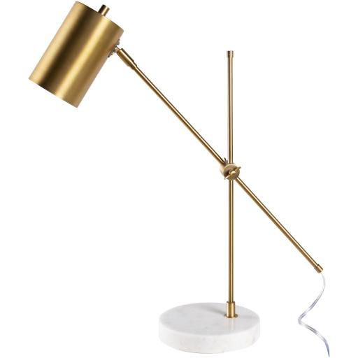 Madeline Brass Brushed Metal Table Lamp | Table Lamp | parker-gwen