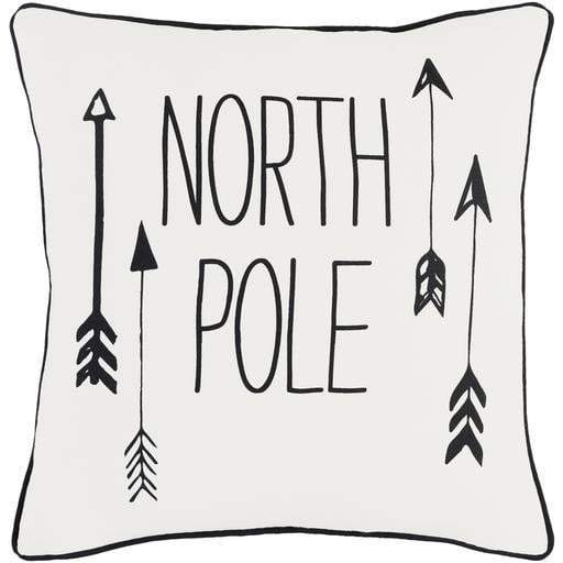 "North Pole 18"" Throw Pillow - White"