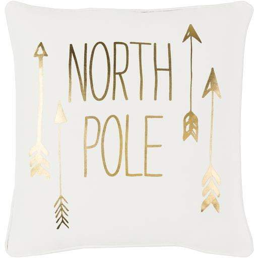 "North Pole 18"" Throw Pillow - Gold"