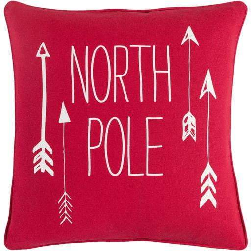 "North Pole 18"" Throw Pillow - Red"