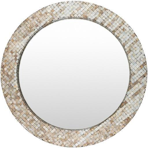 "Kiley 32"" Mother of Pearl Inlaid Wall Mirror 