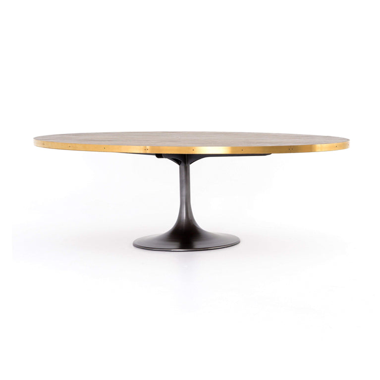 "Evans 98"" Oval Dining Table - Hughes Collection - Parker Gwen"