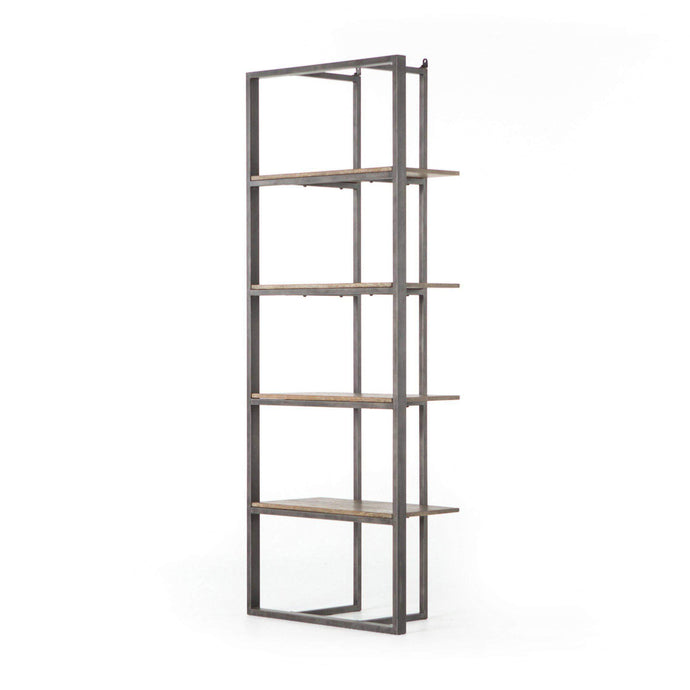 Hughes Collection Grainger Bookshelf: Light Rustic Black - Parker Gwen