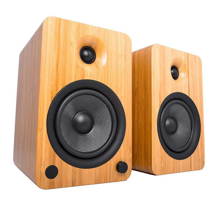 Kanto YU6 Powered Speakers with Bluetooth® and Phono Preamp (Bamboo) - Parker Gwen