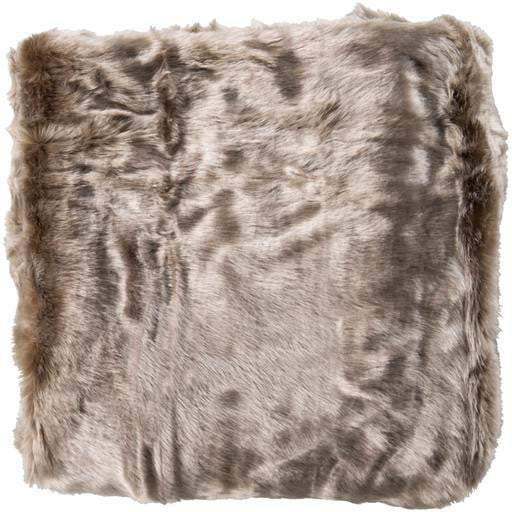 "Innu Faux Fur Throw Blanket 50"" x 60"" (Taupe) - Parker Gwen"