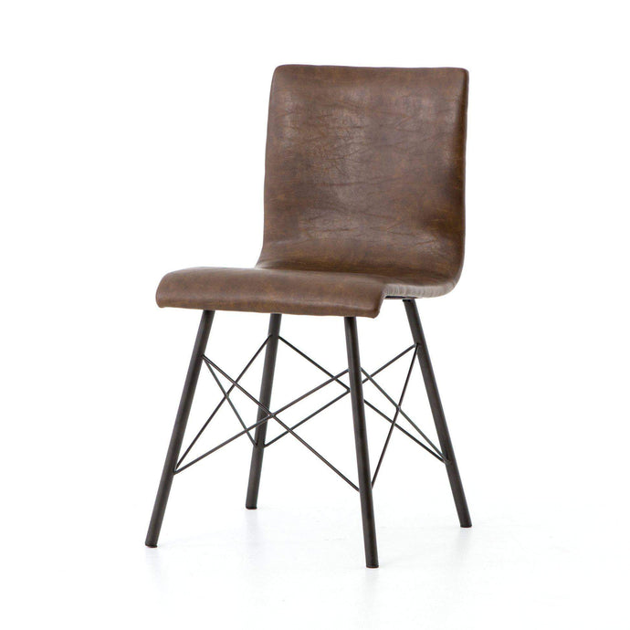 Irondale Collection Diaw Dining Chair: Distressed Brown - Parker Gwen