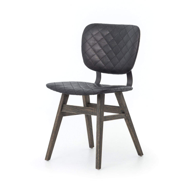 Sloan Top-Grain Leather Dining Chair (Black) - Irondale Collection - Parker Gwen