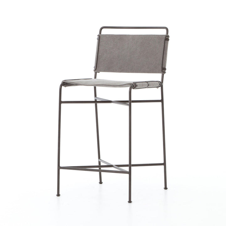 Wharton Bar & Counter Stool (Stonewash Grey) - Irondale | Stool | parker-gwen