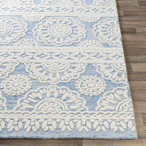 Izmir Hand Tufted Wool Rug Collection - Multiple Sizes (Blue) - Parker Gwen