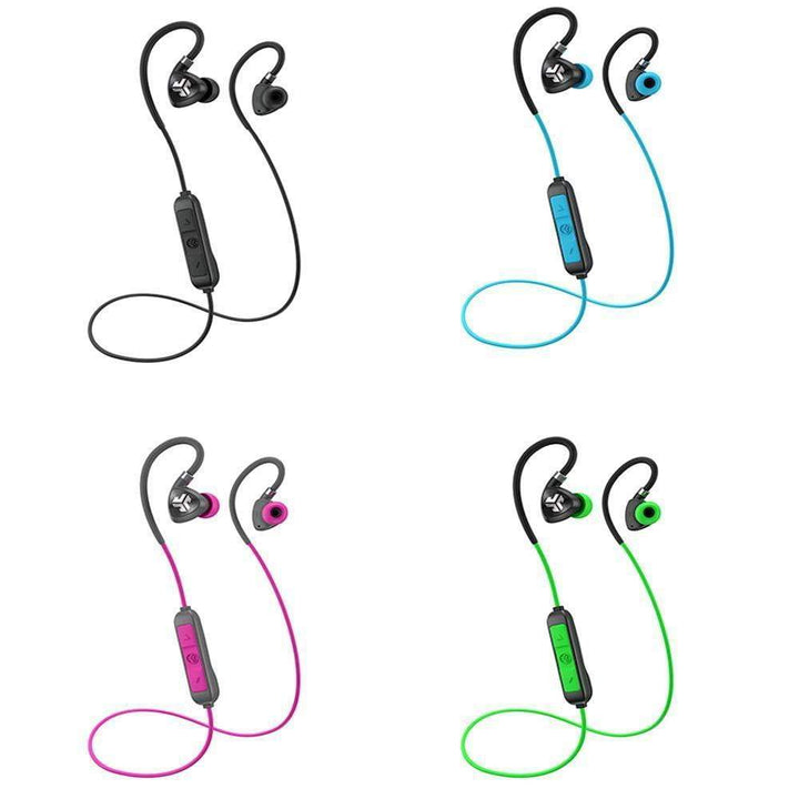 Jlab FIT SPORT WIRELESS BLUETOOTH EARBUDS: Black, Blue, Green or Pink - Parker Gwen