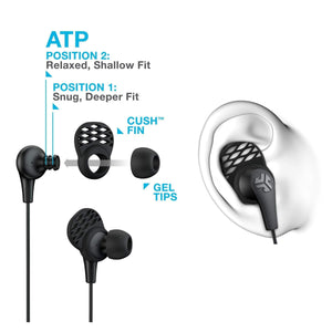 JLab JBuds Pro Earbuds with Universal Mic and Cush Fin Technology - Parker Gwen