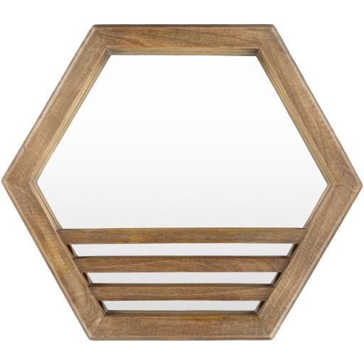 "Lora 16"" Wood Wall Mirror"