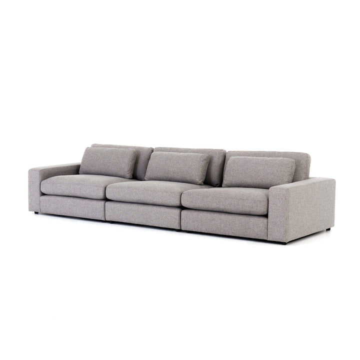 "Bloor 3-Piece 131"" Sectional Sofa (Chess Pewter) - Atelier Collection - Parker Gwen"