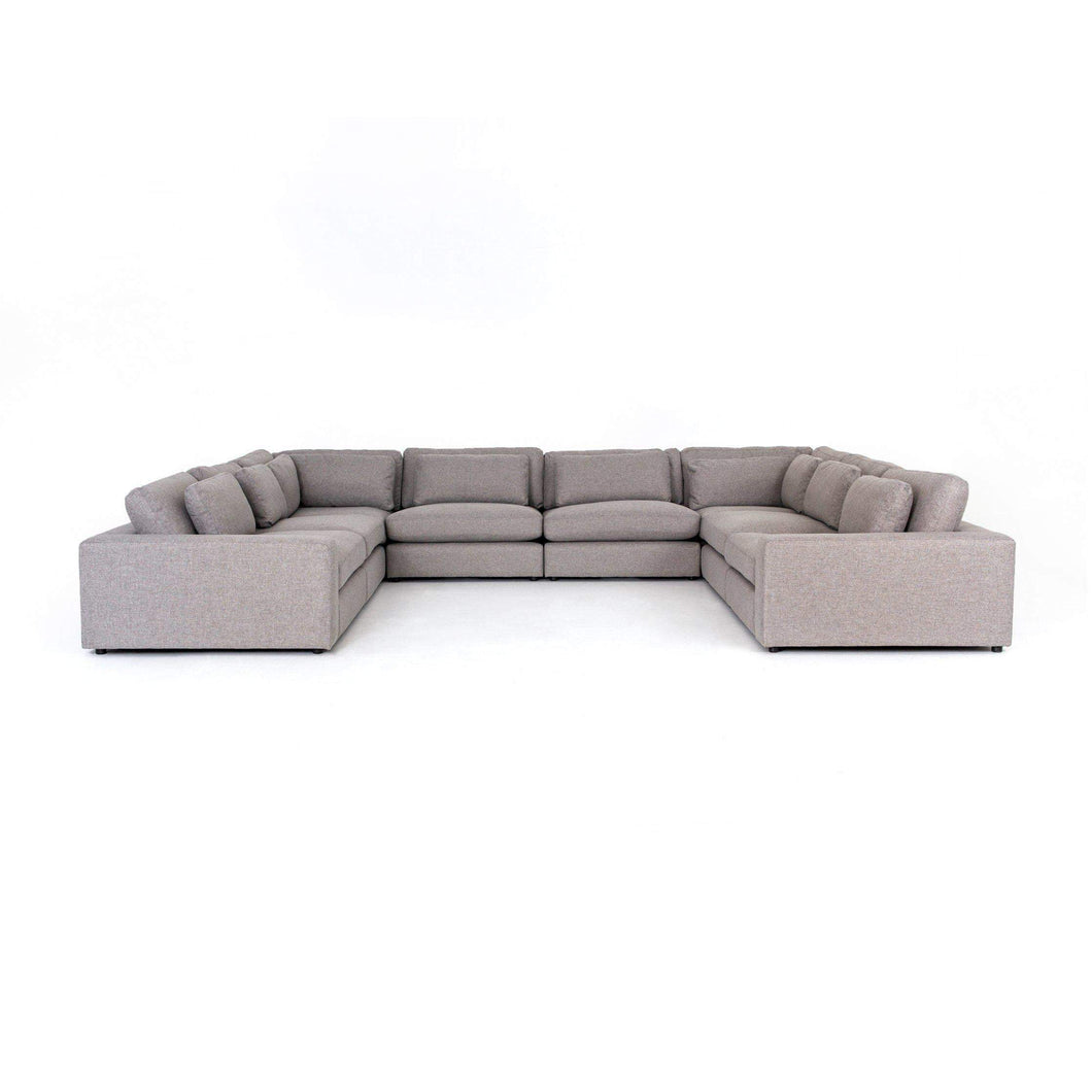 Kensington Collection Bloor 8-Piece Sectional: Chess Pewter - Parker Gwen