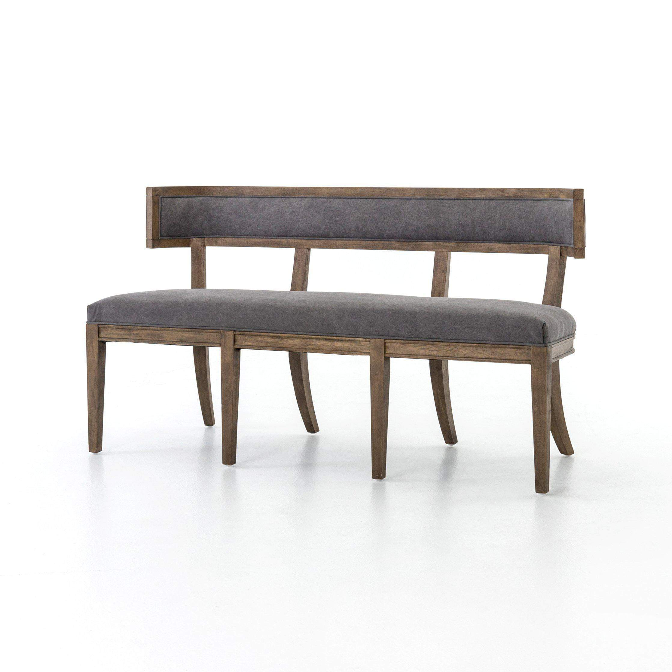 Kensington Collection Carter Dining Bench: Dark Moon Canvas - Parker Gwen