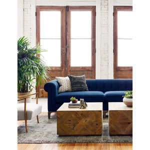 Griffon Velvet Chesterfield Sofa (Plush Navy) - Kensington Collection - Parker Gwen