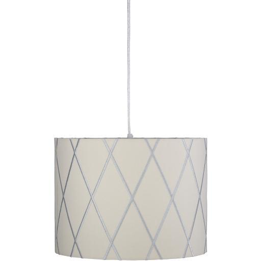 Lorie Gray White Powder Coated Fabric Chandelier | Chandelier | parker-gwen