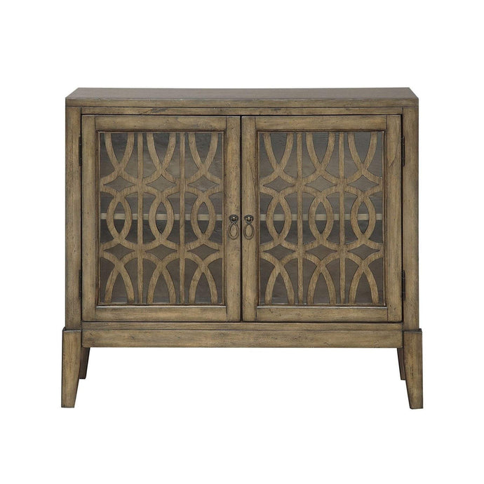 Kire Distressed Parchment: Two Door Cabinet-Accent Cabinet-Parker Gwen