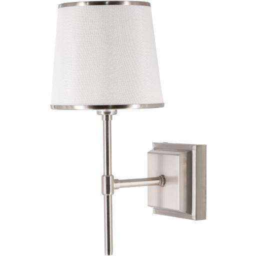 Michael Nickel Brushed Metal Wall Sconce | Sconce | parker-gwen
