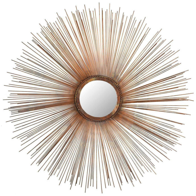 Large Sunburst Gold & Bronze Mirror-Mirror Art-Parker Gwen