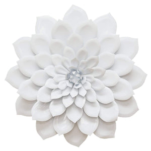 Layered White Flower Wall Décor-Wall Accent-Parker Gwen
